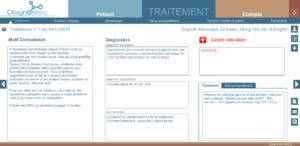 Saisie du traitement ostéopathique
