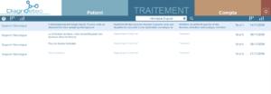 Liste des traitements réalisés