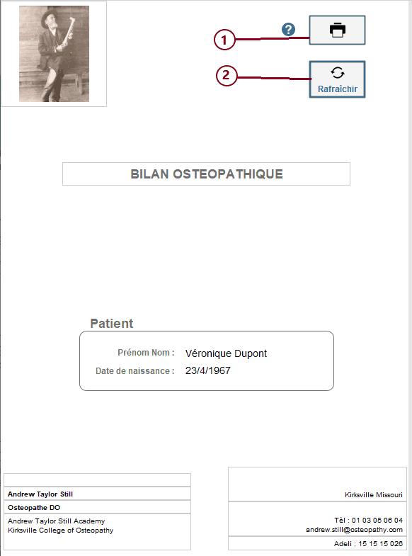 Page de présentation du Bilan