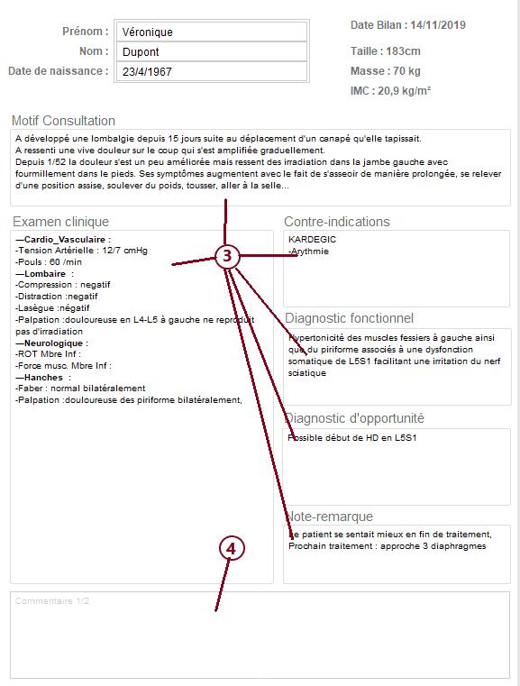 Bilan 2 : Synthèse examen clinique