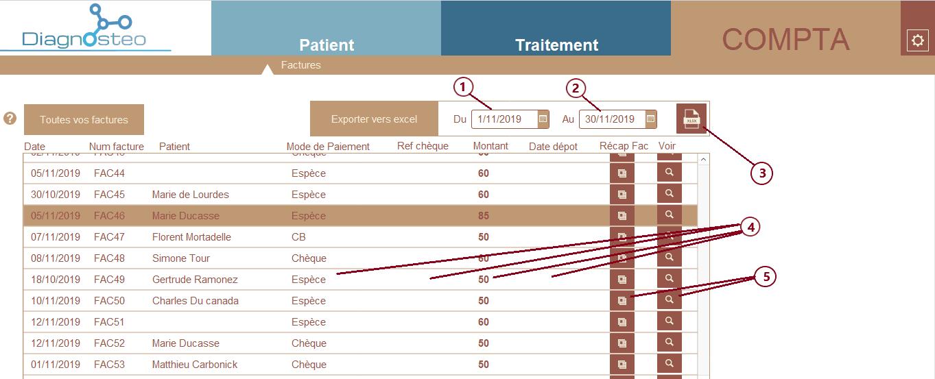 Compta - logiciel diagnosteo