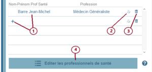 Editer les professionnels de santé