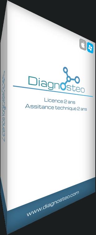 Licence 2 ans, logiciel pour ostéopathes Diagnosteo